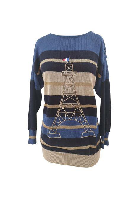 Jean Charles de Castelbajac blue tour Eiffel sweater NWOT J.C. de Castelbajac | Maglia | VXR01404.