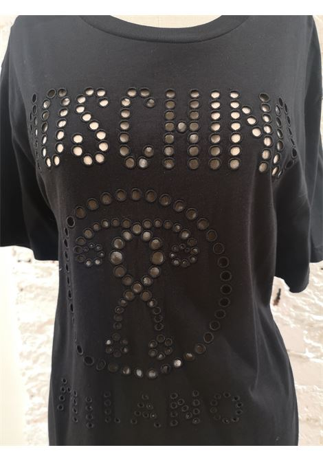Moschino Couture Black cotton T-shirt NWOT Moschino | T-Shirts | VXR01405NERO