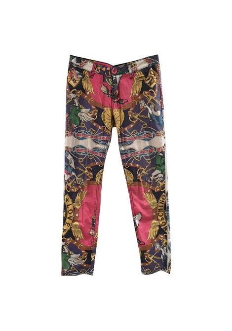 Moschino Duck multicoloured cotton pants Moschino | Trousers | VXR014090NERO