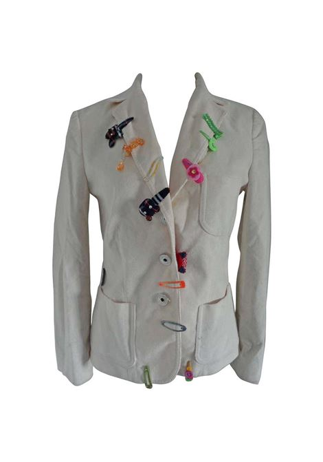 Moschino Jeans White cotton Jacket moschino | Jacket | VXR01516COIFFEUR