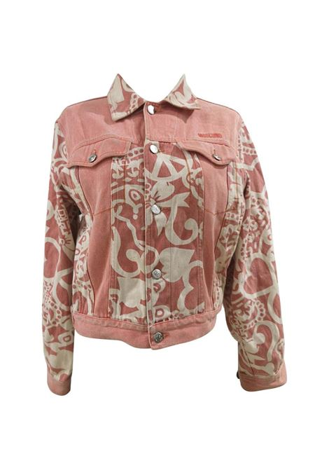 Moschino junior white pink cotton jacket Moschino | Jackets | VXR01530QUADRIFOGLIO