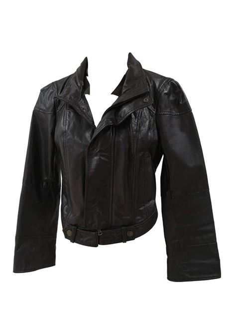 Red Valentino Black Leather Jacket Red Valentino | Jackets | FAMA016100CREMA