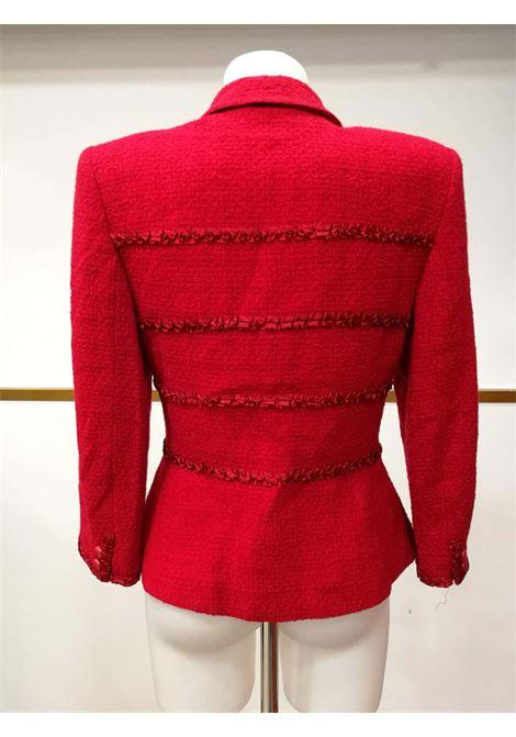 1980s Valentino Miss V. Red Wool Jacket Valentino | Jacket | VXR01514ROSSA