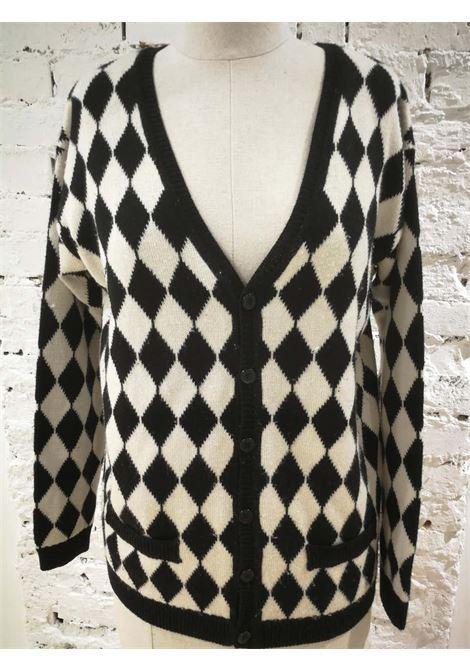 Versace Black & White wool Cardigan Versace | Cardigan | VXR014057QUADRI