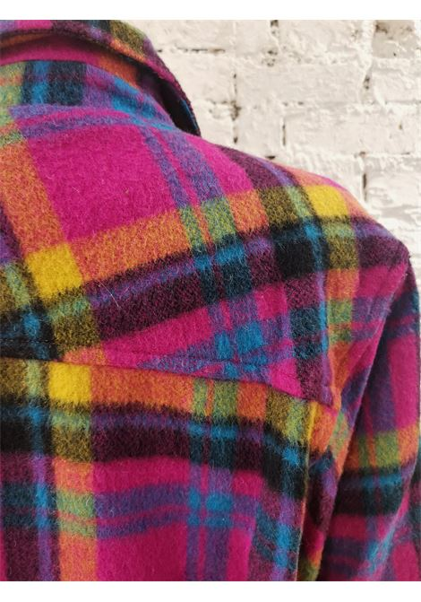 Multicoloured wool montgomery VIntage | Jackets | VXR0116BIANCA BLU