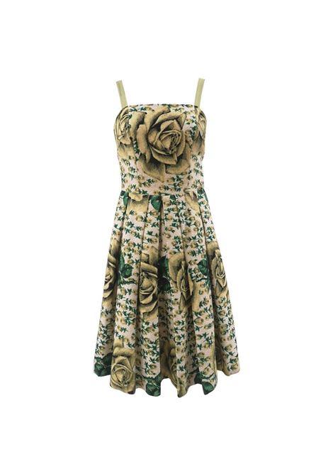 Vintage yellow green cotton dress VIntage | Abito | VXR01318AMULE