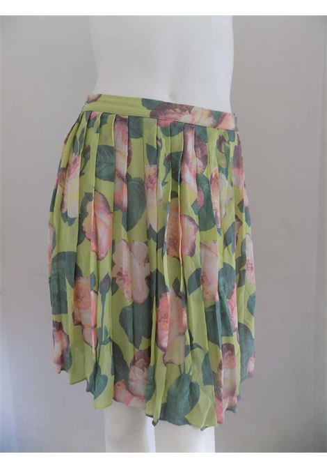 Blumarine Green Flowers Skirt Blumarine | Gonna | LBGONNA01A020AEVERDE MULTI
