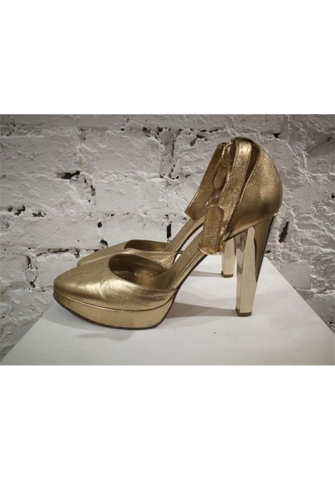 Casadei Gold Leather Sandals Casadei | Stivali | AM.122EC0100TCNERO