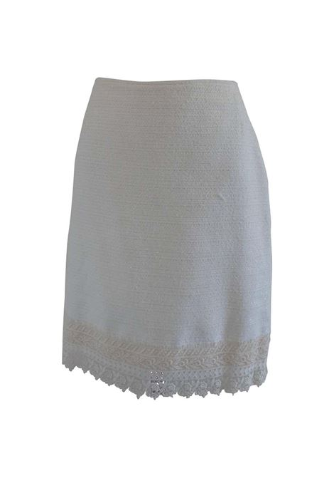 Genny by Gianni versace white cotton Skirt Genny | Skirts | AM06EX060FTDCREMA