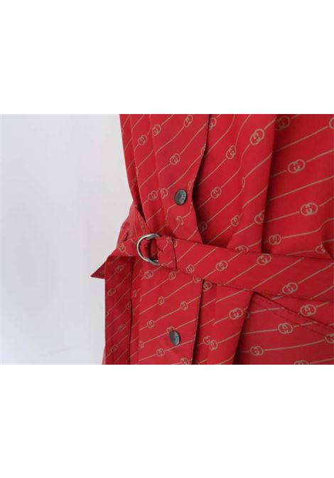 G. Gucci RARE Red Logo Chemisier Gucci | Trench | VXR017012LOGO