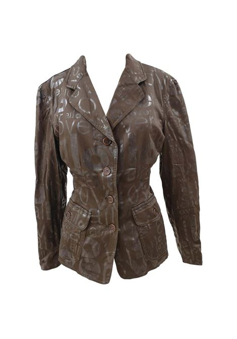 Moschino brown allover jacket Moschino | Jackets | VXR017039.