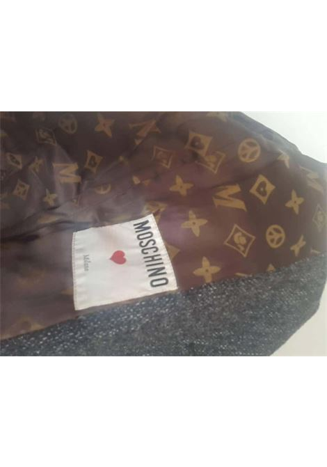 Moschino Grey Jacket brown bow logo Moschino | Jackets | VXR017075GRIGIO