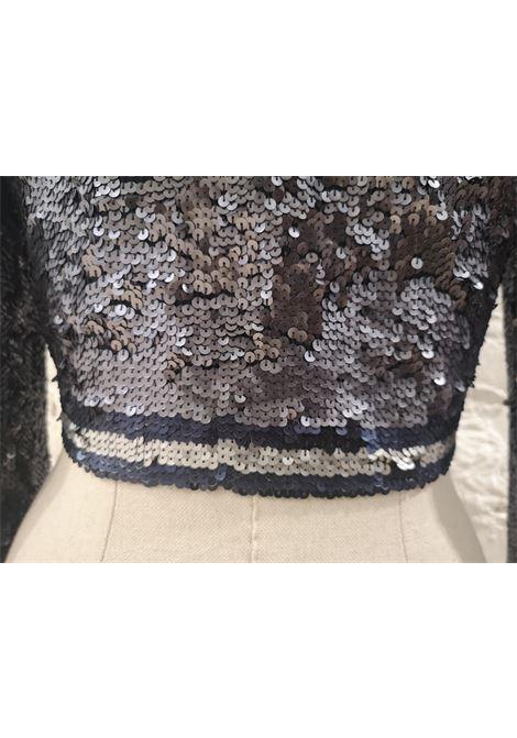 Parosh blue silver sequins jacket P.a.r.o.s.h | Giacca | PAIETTESBLU ARGENTO