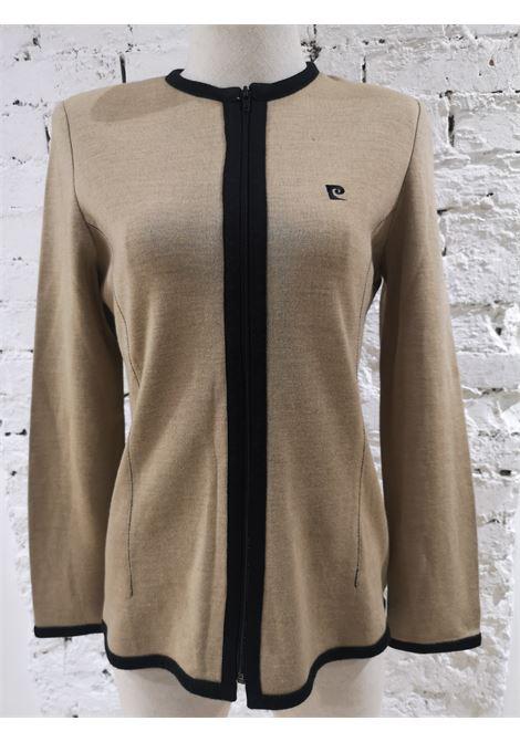 Pierre Carding beige black wool jacket / cardigan Pierre Cardin | Giacca | CARDIGANBEIGE NERO