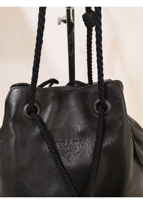 Prada black leather satchel Prada | Borsa | AM04EX0400CSWNERO