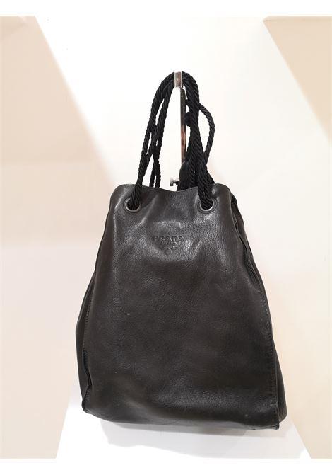 Prada black leather satchel Prada | Bags | AM04EX0400CSWNERO
