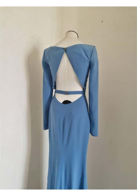 Rare Versace Light Blu Long Dress Versace | Abito | FDG0170150CELESTE