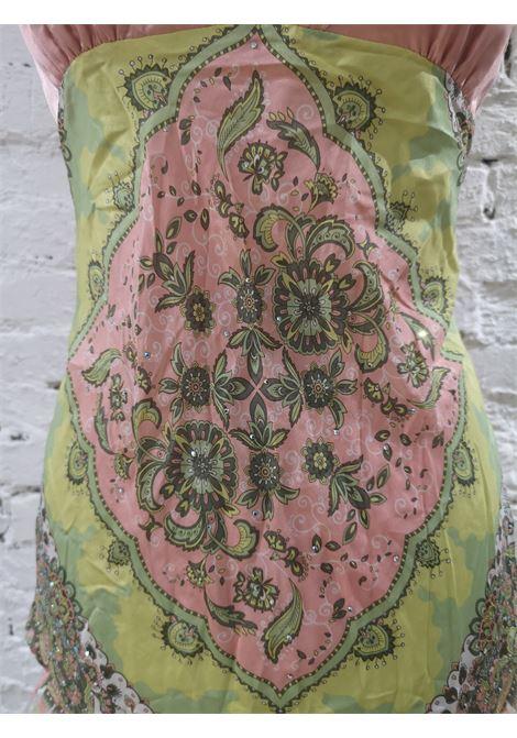 Balizza green pink silk top VIntage | Shirts | LB02A025ETMULTI