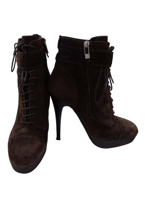 Yves Saint Laurent brown suede boots yves saint laurent | Shoes | CA01A0150EXAMARRONI