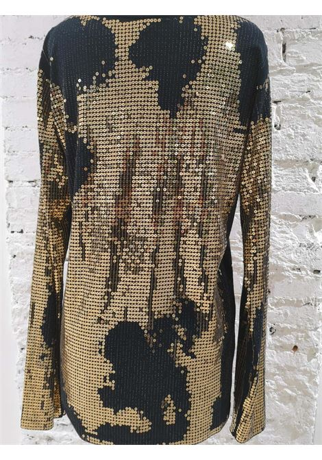 Balmain Black Gold Sequins Dress Balmain | Dresses | EC01820X0ZQANERO ORO