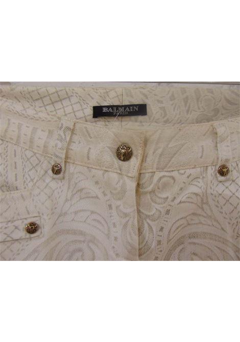 Balmain | Pantalone | SVV018090100WHITE/GOLD