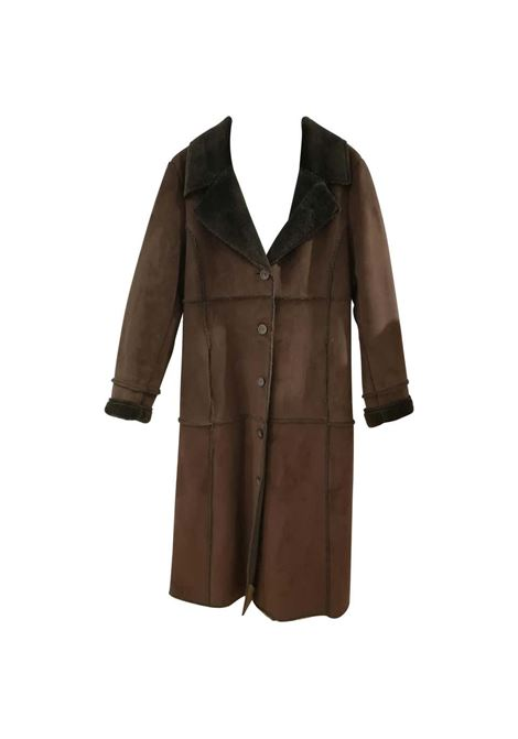 Balmain Long Brown Coat Balmain | Coats | VXR01811S0CPL-