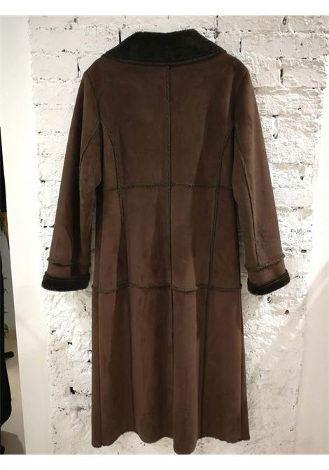 Balmain Long Brown Coat Balmain | Cappotto | VXR01811S0CPL-