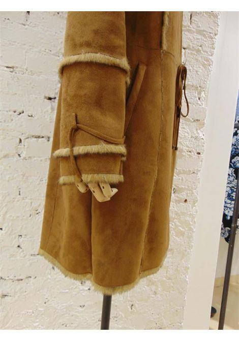 Balmain Brown Coat Balmain | Cappotto | VXR01875XOLNERO LUNGO