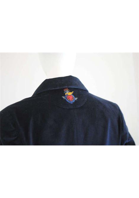 1980s Jc De Castelbajac Blu Velvet Coat J.C. de Castelbajac | Cappotto | VXR0160408BLU