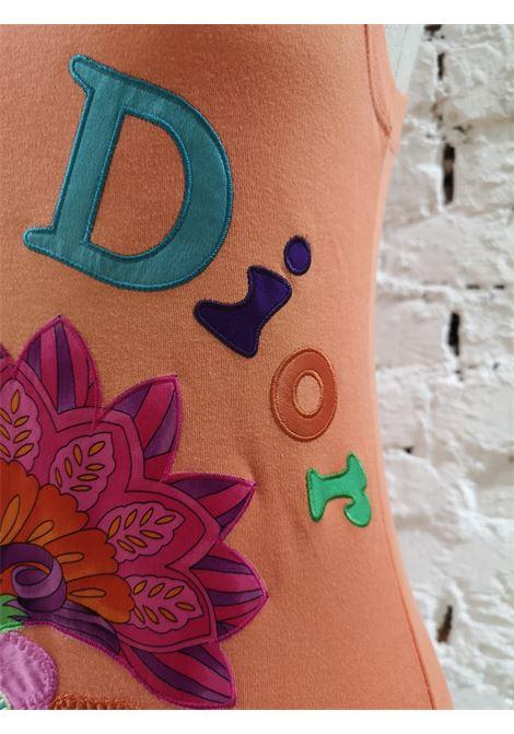 Christian Dior orange multicoloured cotton t-shirt NWOT Christian Dior | Canotta | MO01701ARANCIO
