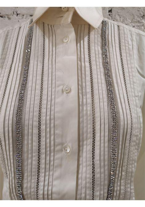 Dolce & Gabbana couture silk swarovski stones shirt Dolce&Gabbana | Shirts | SVV0180780100WHITE