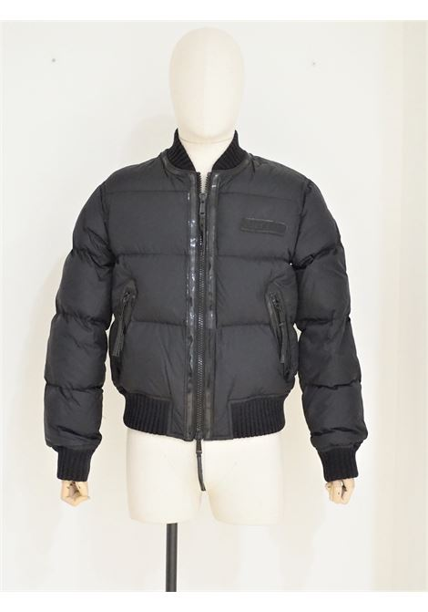 Dsquared2 black leather wool bomber jacket DSQUARED2 | Bomber | AV01815X0SNERO