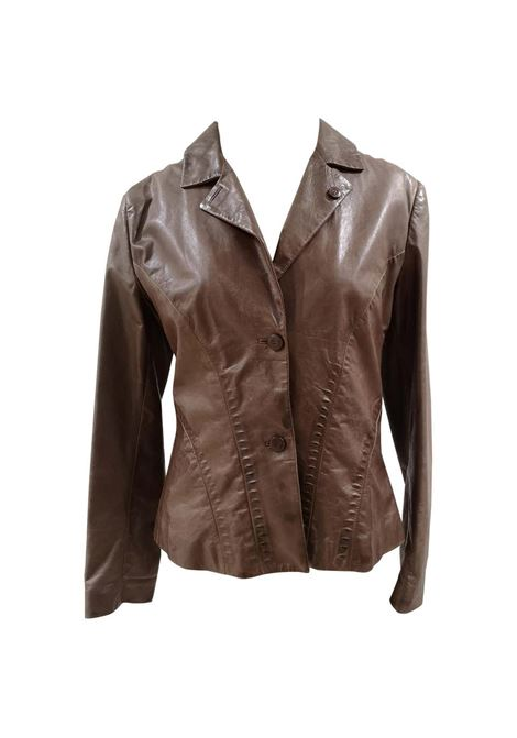 Ermanno Scervino Brown leather jacket Ermanno Scervino | Giacca | BL01815X0SQPELLE