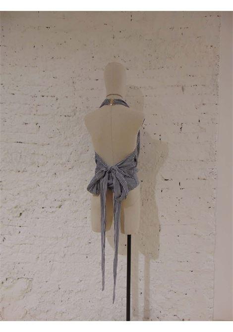 Gucci by Tom Ford white blu stripes top gucci |  | SVV018075060EBLU