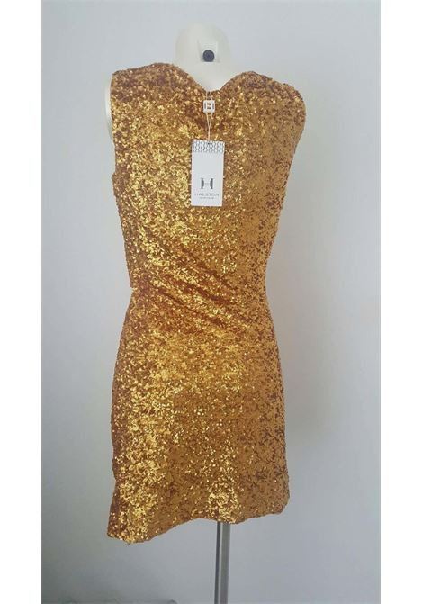2000s Halston Heritage gold sequins dress Still with original tags Halston heritage | Dresses | MO01650ORO