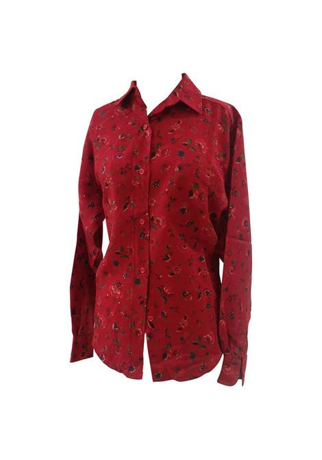 Kenzo red wool flowers shirt Kenzo | Camicia | AMGV017114060ROSSO