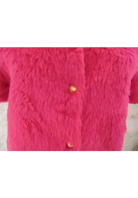 Leitmotiv faux fucsia fur silver tone short sleeves jacket NWOT leitmotiv | Jacket | TCS01835FUCSIA