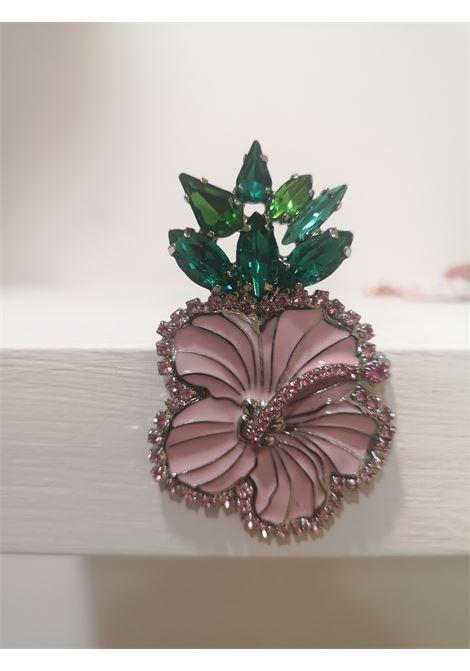 LisaC flower swarovski stones brooch Lisa C. Bijoux | Brooches | BEE BIG.