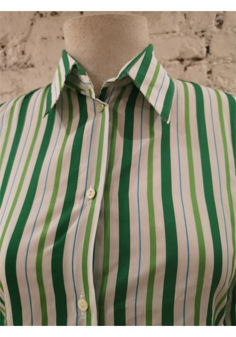 Loro Piana White Green Shirt Loro Piana | Shirts | AMS01850POKVERDE