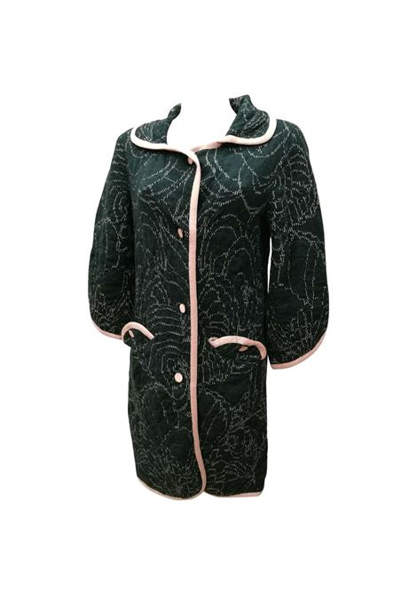M by Missoni Green Pink Wool Coat missoni | Coat | VXR016090VERDE