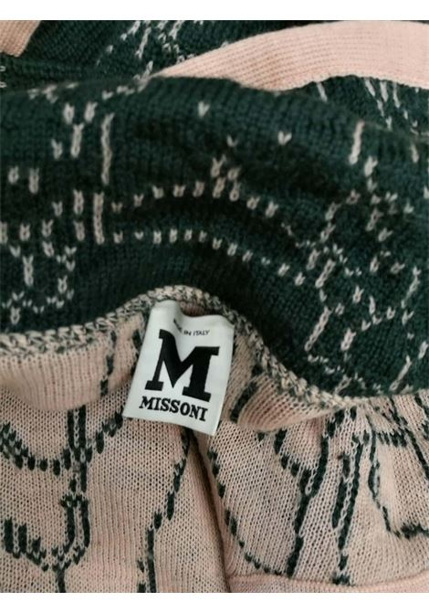 M by Missoni Green Pink Wool Coat missoni | Coat | VXR016090VERDE