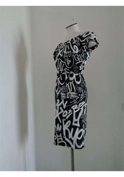 Moschino Couture Black White Graffiti Dress NWOT Moschino | Dresses | AF017150BIANCO NERO