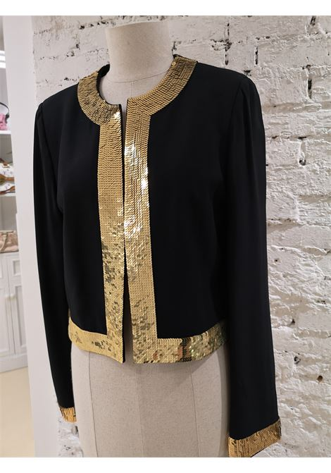 Moschino Wool Black Jacket Gold Sequins moschino | Giacca | BLAZER COUTURE-