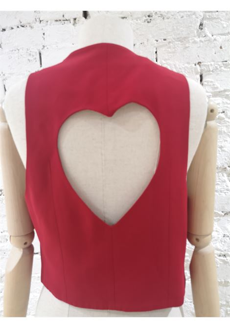 Moschino Cheap & Chic Red Xo Heart Gilet Moschino | Gilet | CR018110XZZQROSSO