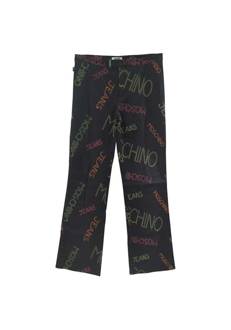 Moschino black written pants  Moschino | Trousers | VXR0160203GRIGIO