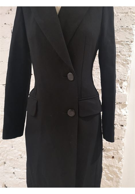 Moschino black wool long coat Moschino | Coats | VXR016025NERO