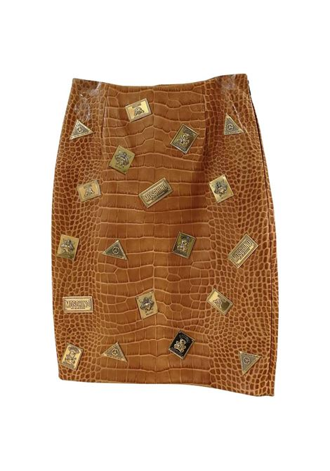 Moschino Couture Brown Leather Skirt Moschino | Skirts | VXR01810PELLE