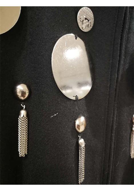 Moschino Silver tone Studs Black Coat Moschino | Cappotto | VXR01890XSASTRAMBO