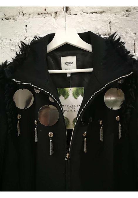 Moschino Silver tone Studs Black Coat Moschino | Coats | VXR01890XSASTRAMBO