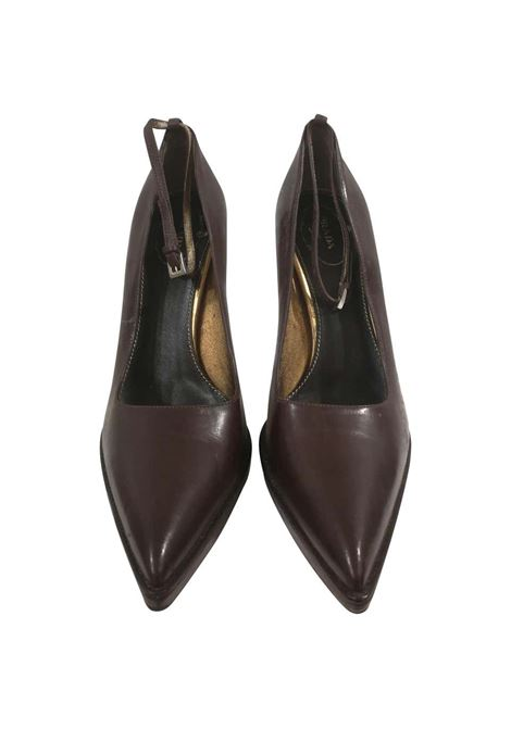 Prada Brown Leather Decollete Prada | Scarpe | AM01850XDSMARRONE